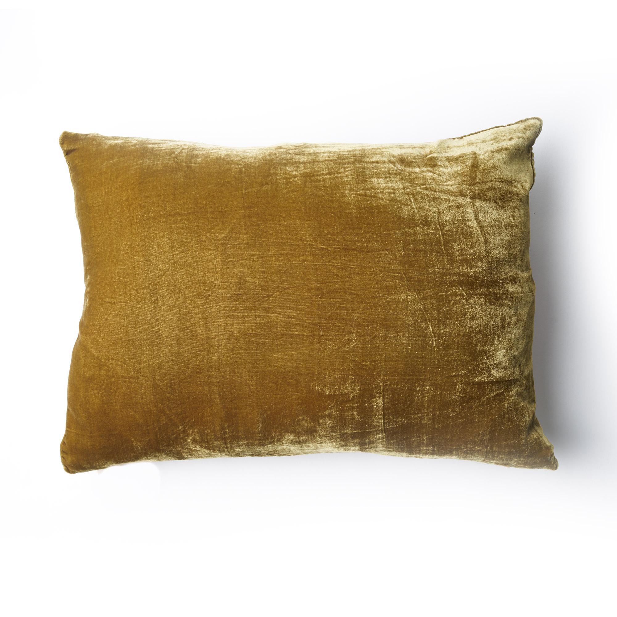 SALE! Almohadón de terciopelo, rectangular, dorado