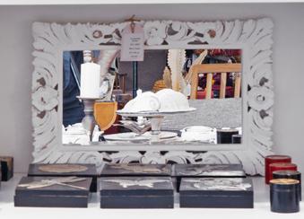 Espejo de madera patinada