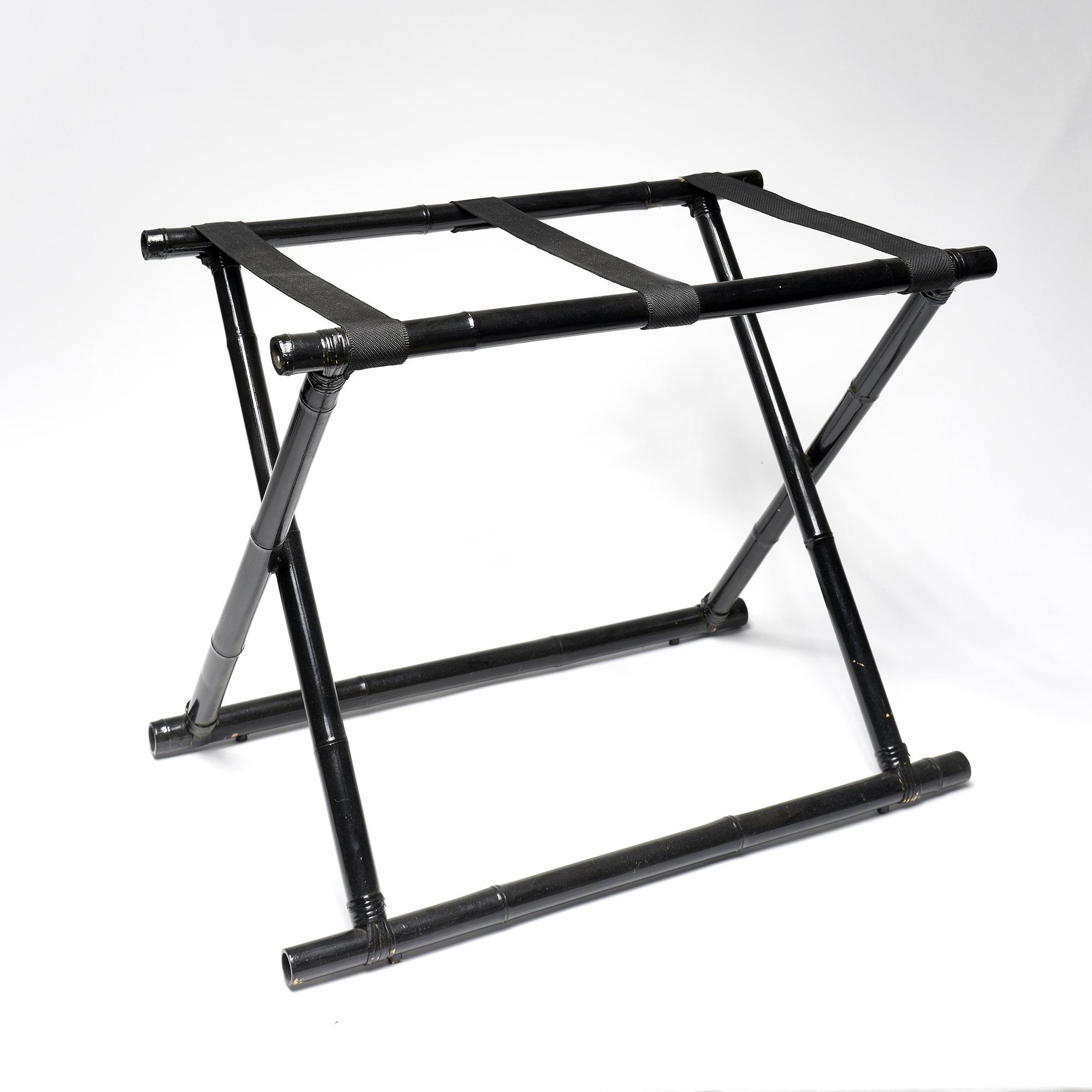 Rack valijas bambú negro