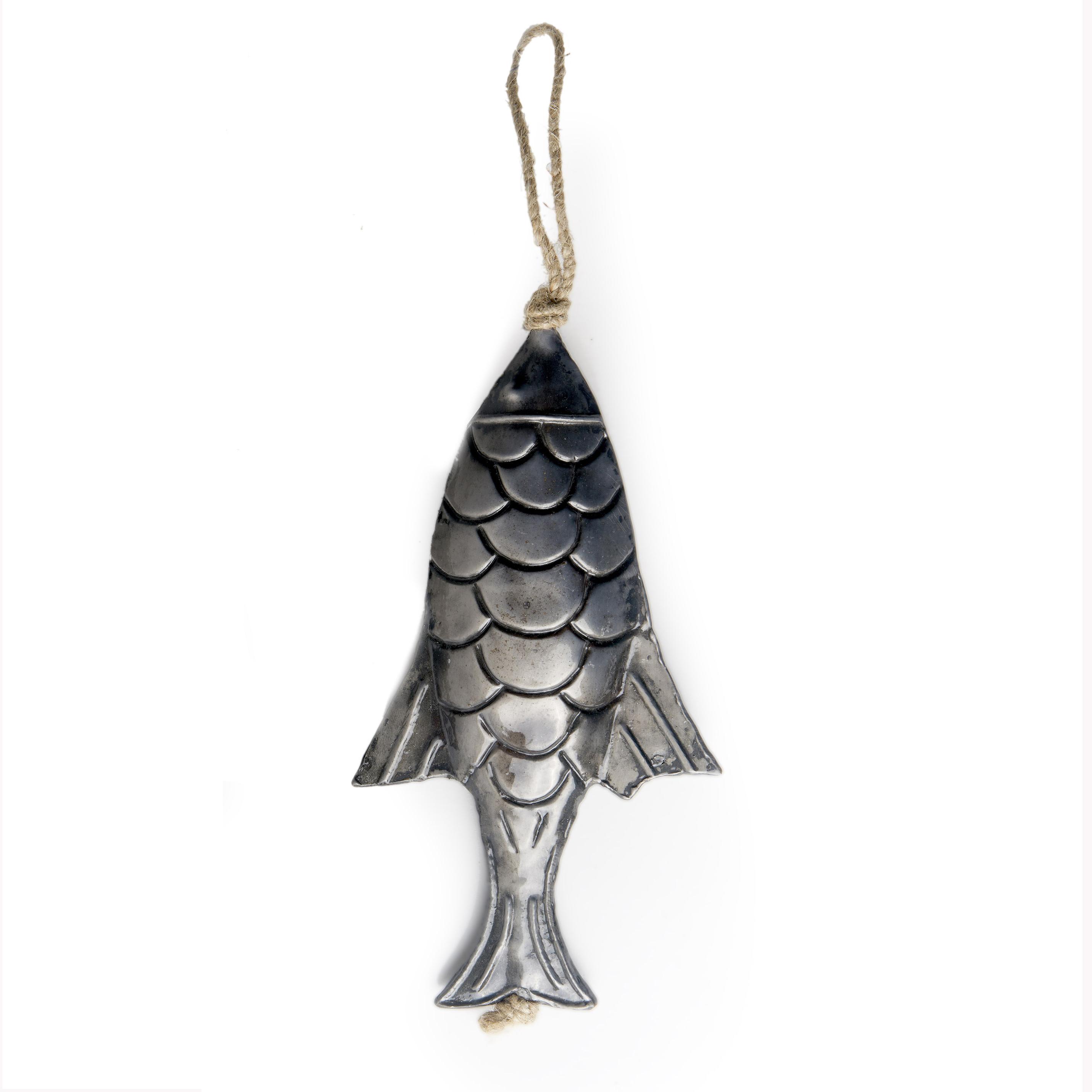 Pescado metal para colgar