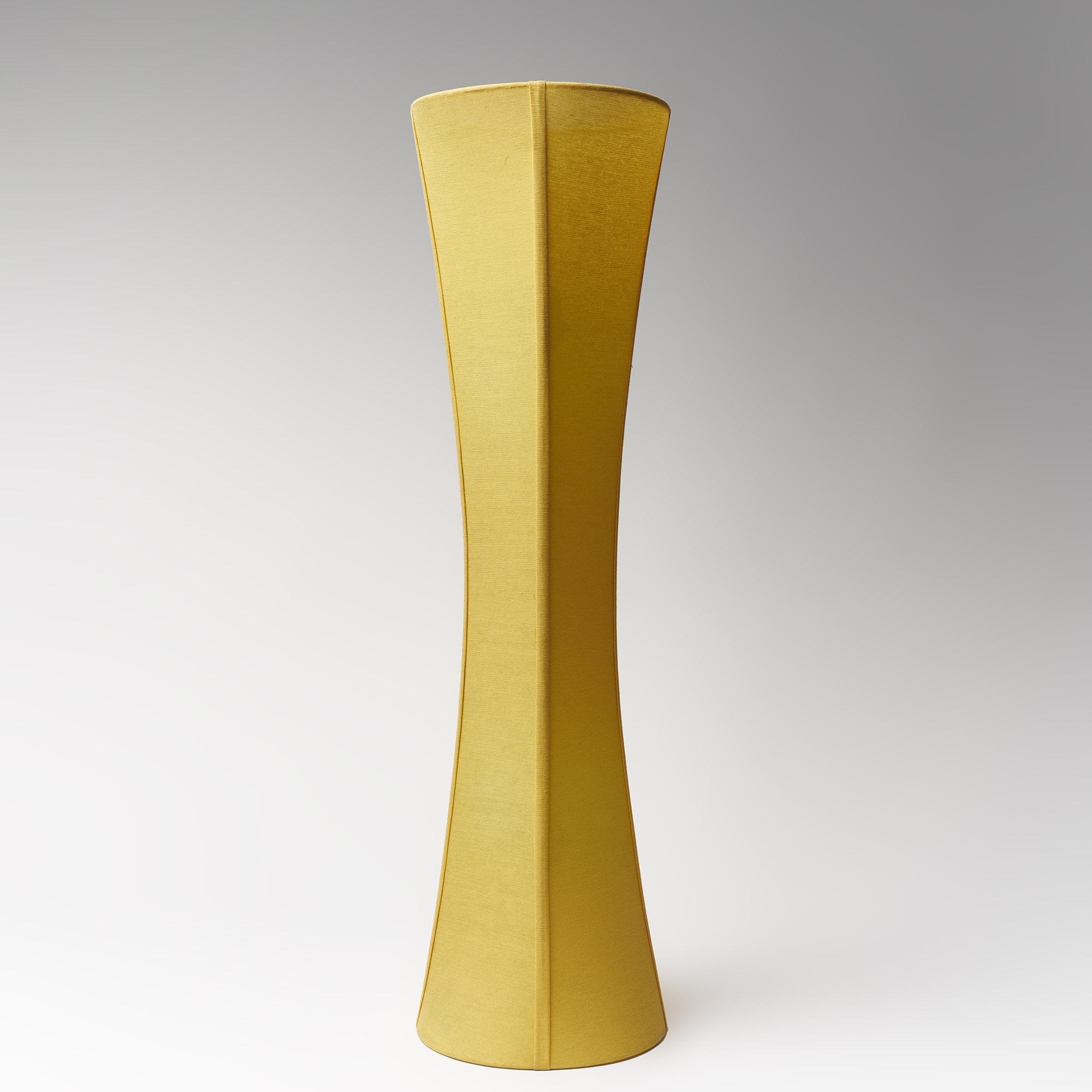lámpara de seda amarilla dos luces