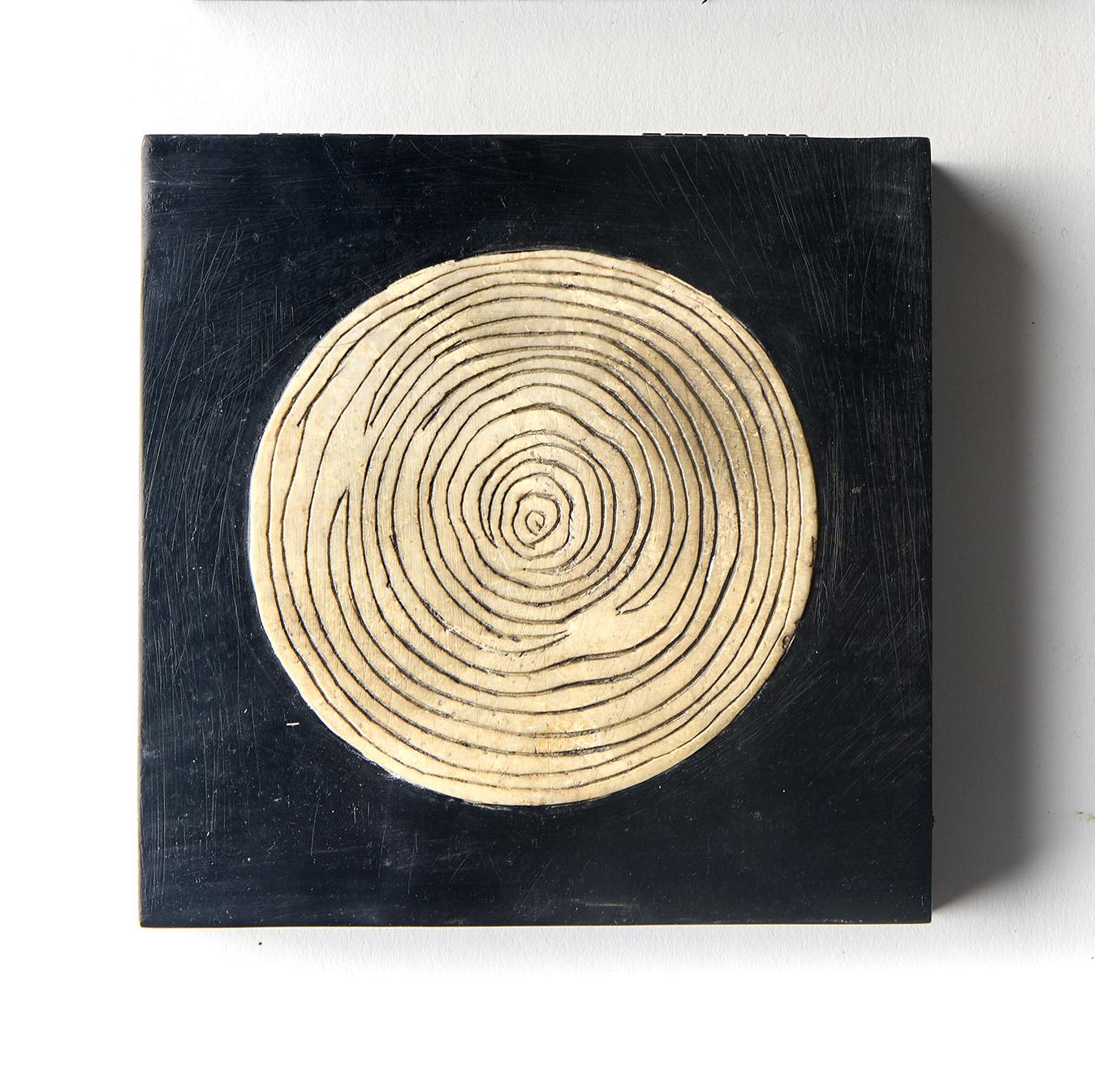 Caja cuadrada negra bambú