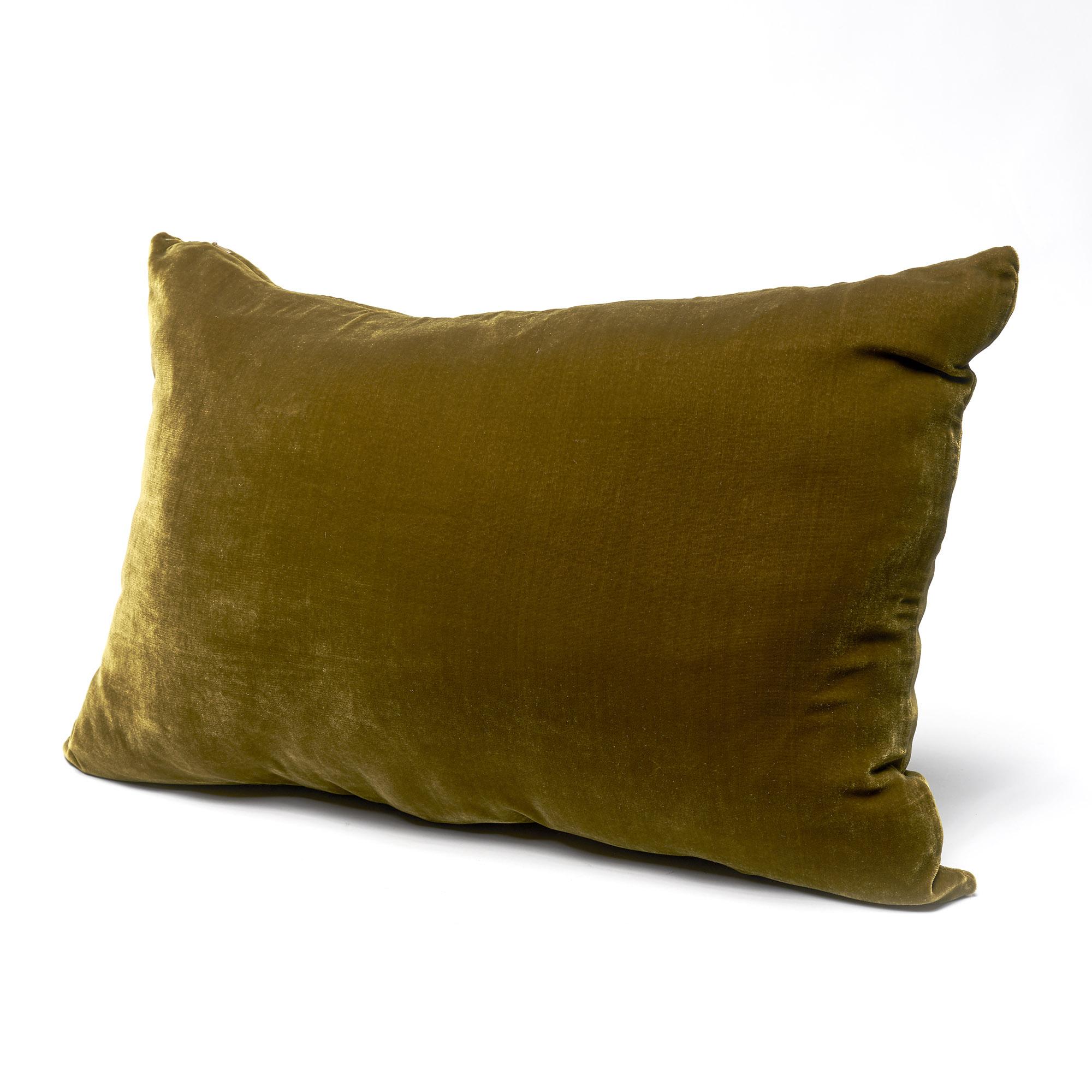 SALE! Almohadón de terciopelo, rectangular, madera