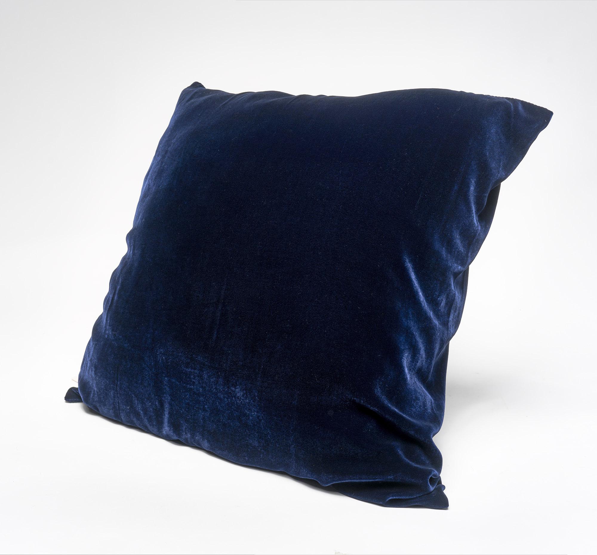 SALE! Almohadón de terciopelo, cuadrado, azul marino