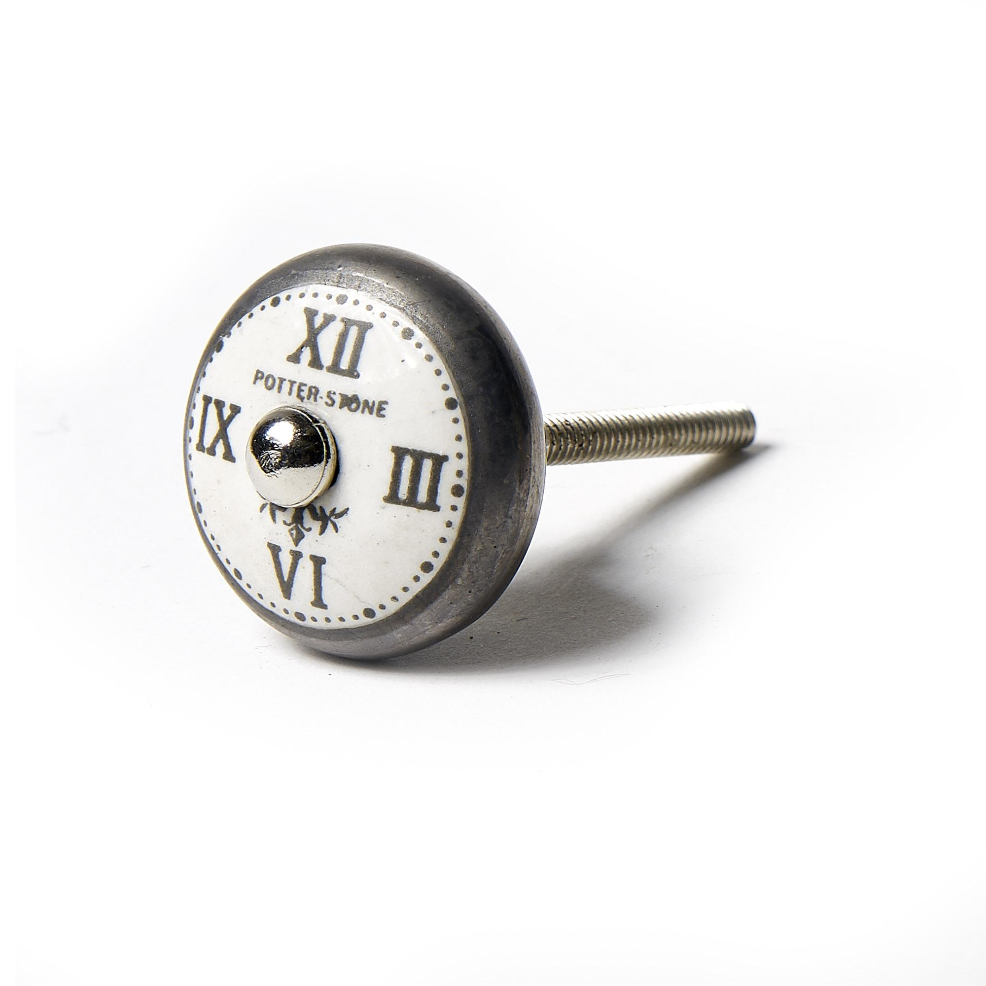 Tirador reloj números romanos