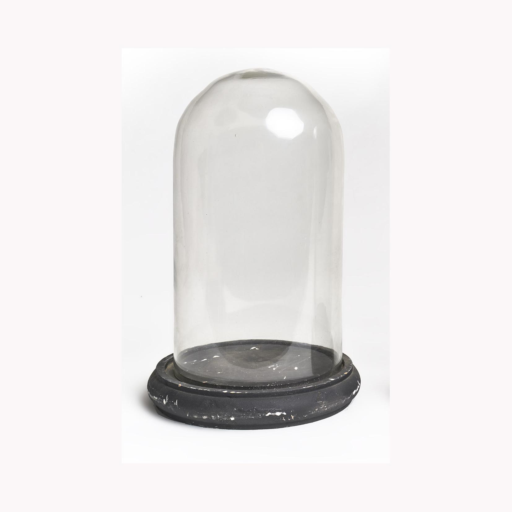 Cúpula de vidrio redonda chica