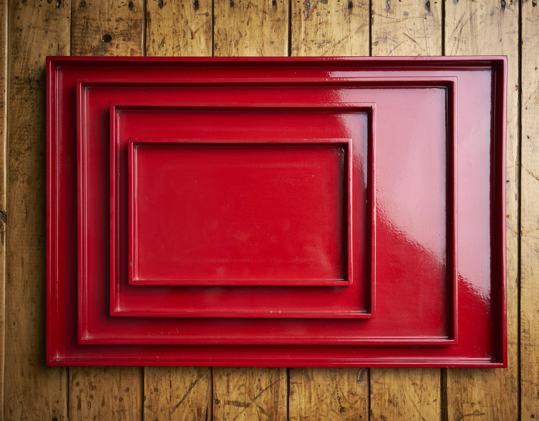 Bandeja laca roja 28 x 35 cm