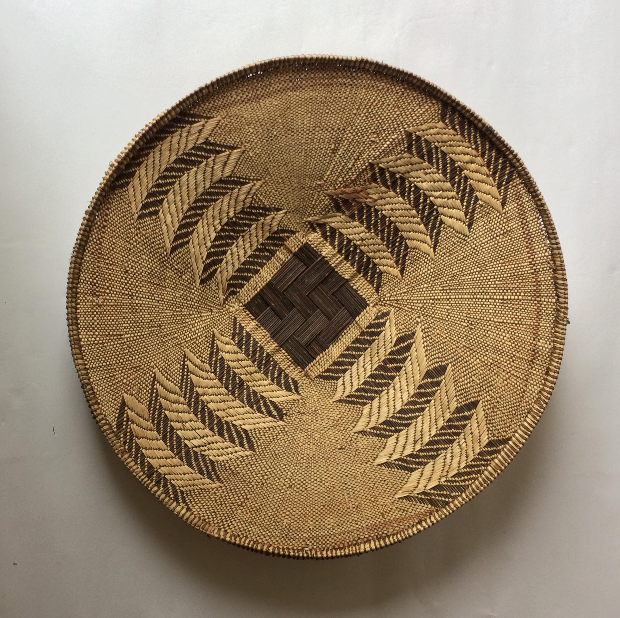 CANASTO DE PAJA AFRICANO (diámetro aprox. 69cm)