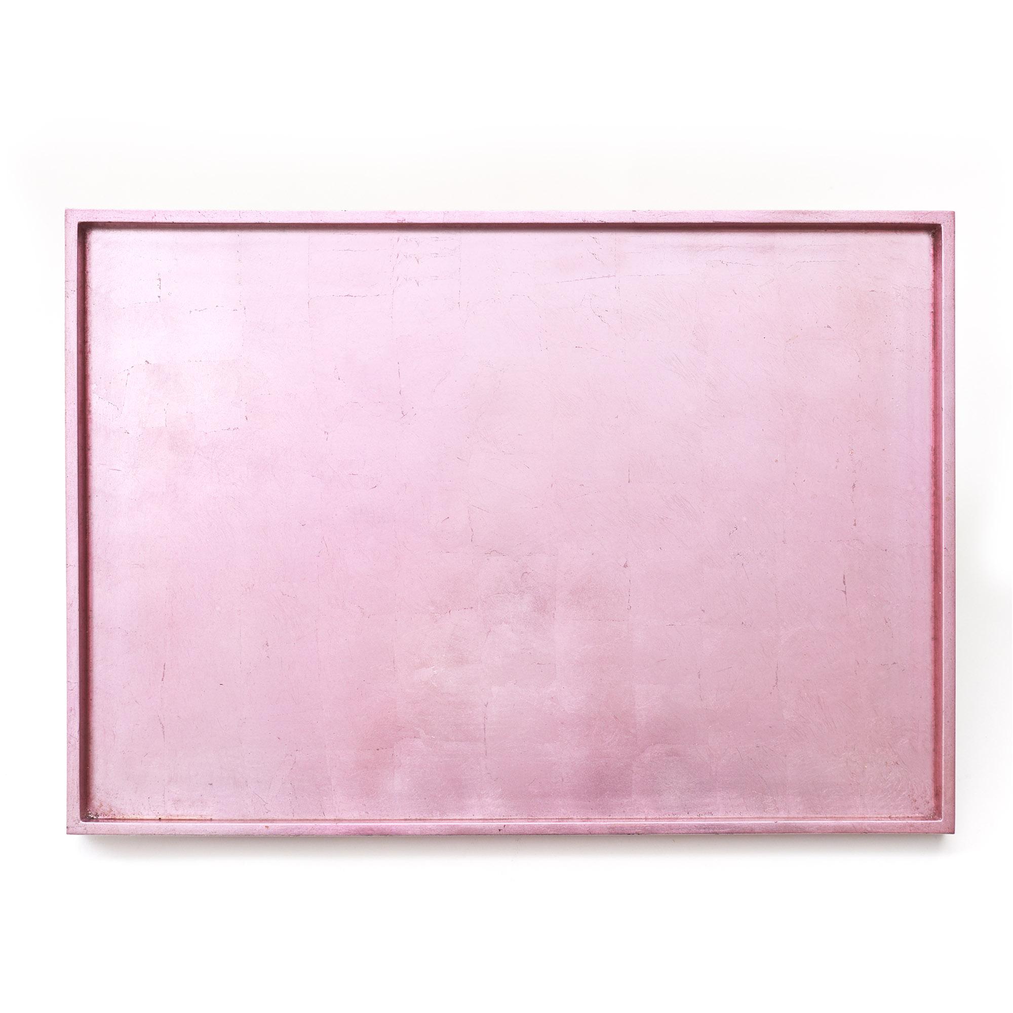 Bandeja laca metalizada rosada 35 x 50 cm