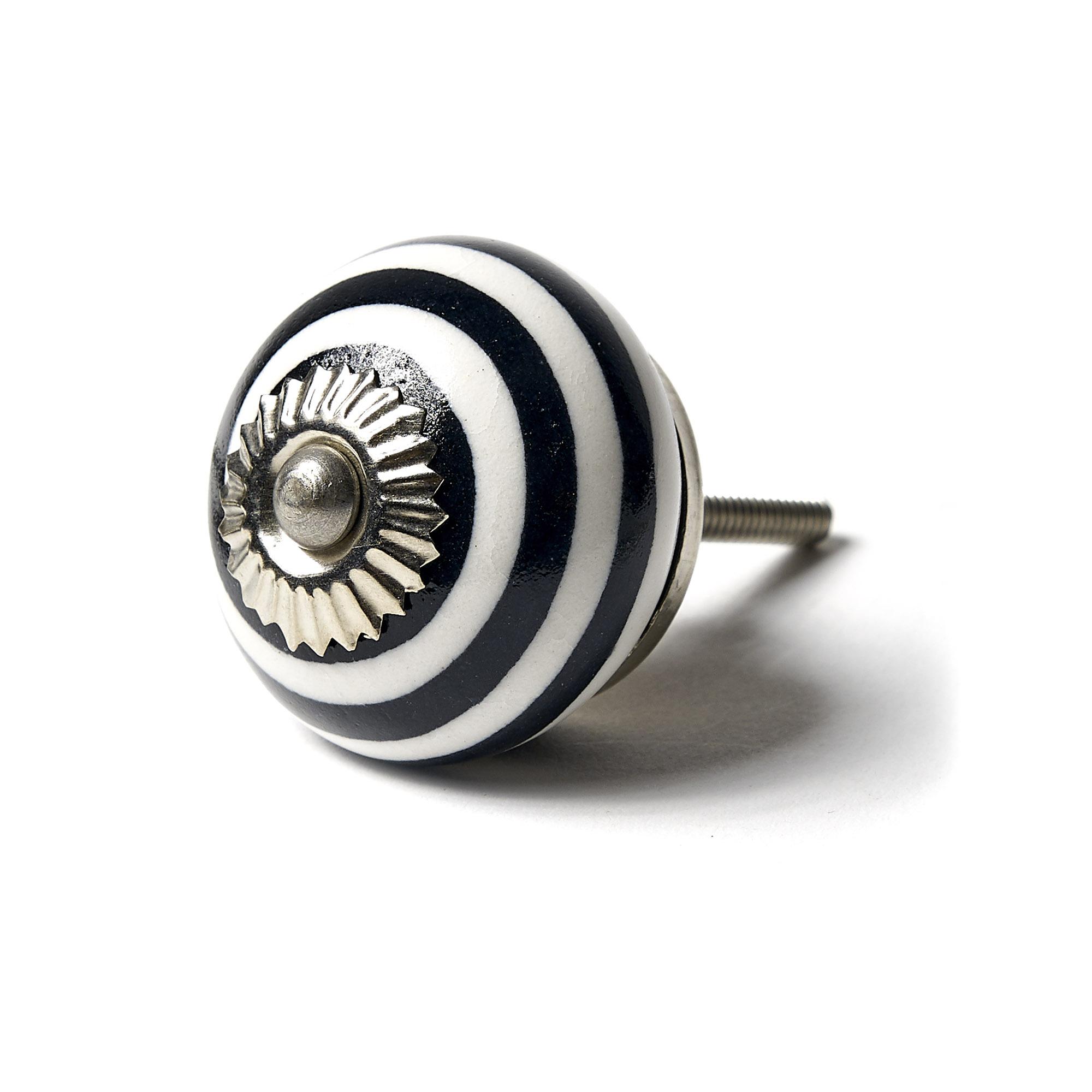 Tirador Espiral negro y blanco