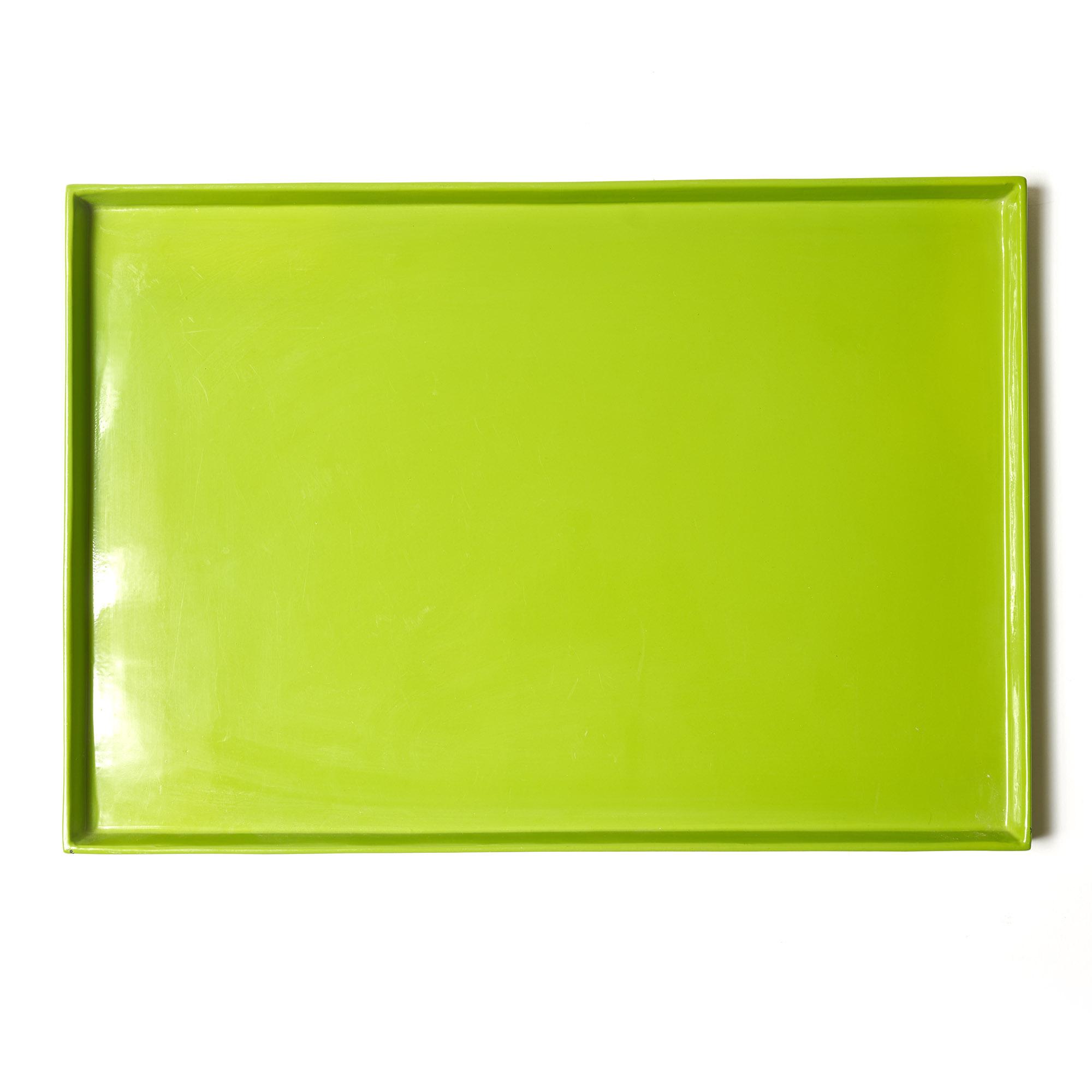 Bandeja laca verde 35 x 50 cm
