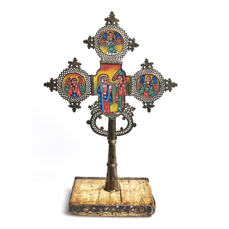 Cruz Copta con íconos