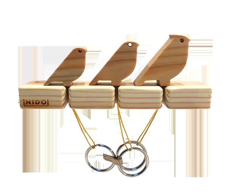 Kit porta llaves de cardenal