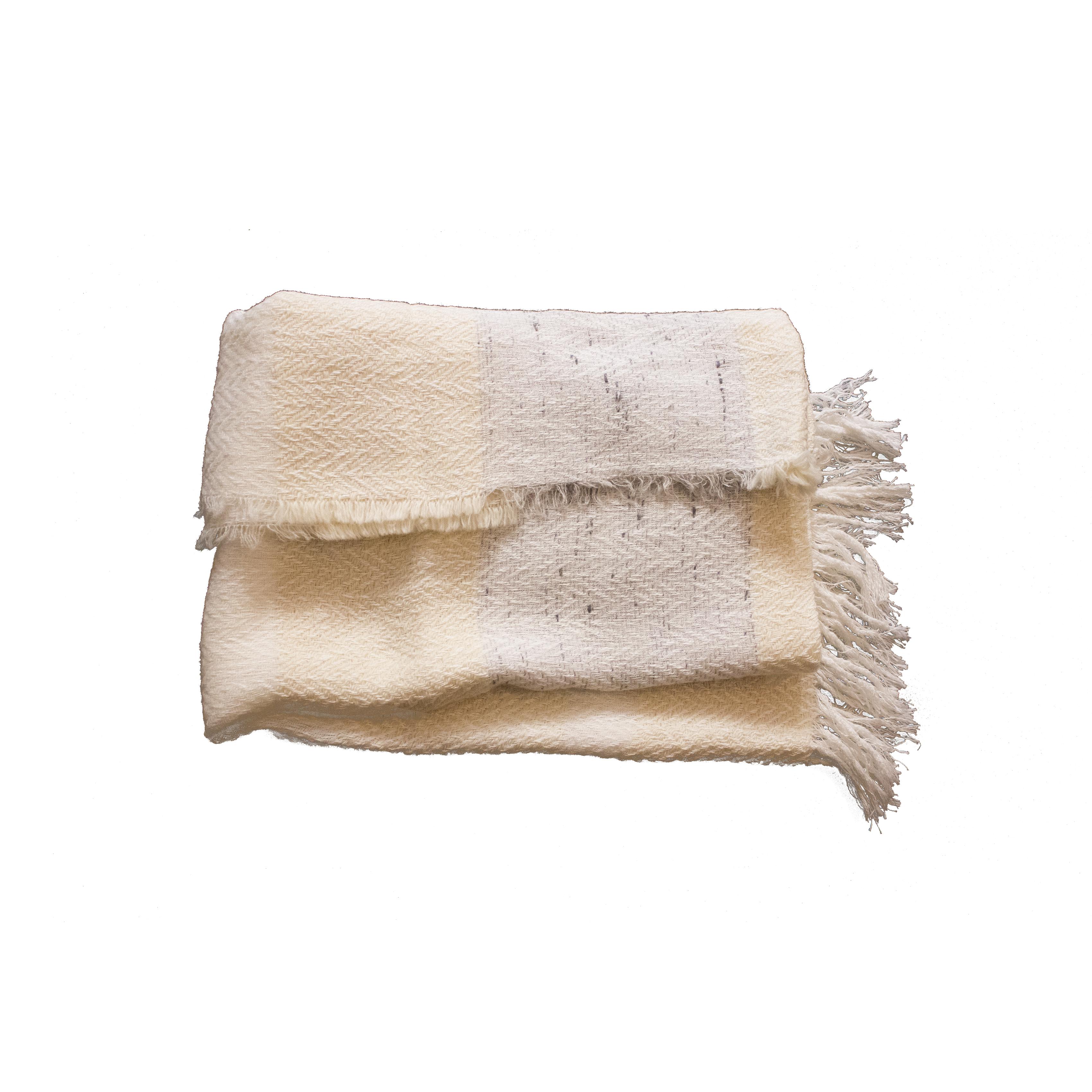 Pashmina lana y algodón