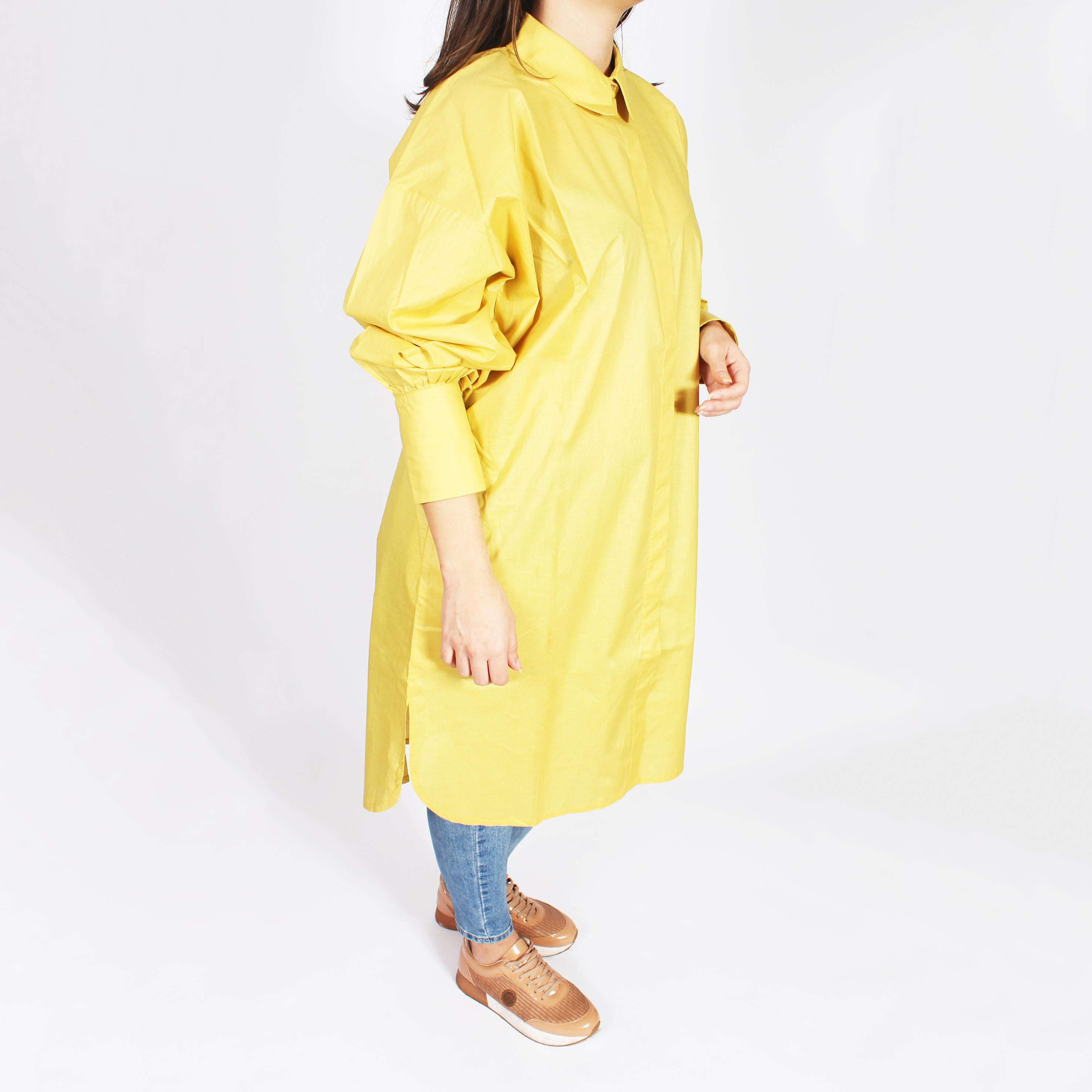 Camisa Georgia manga larga amarilla