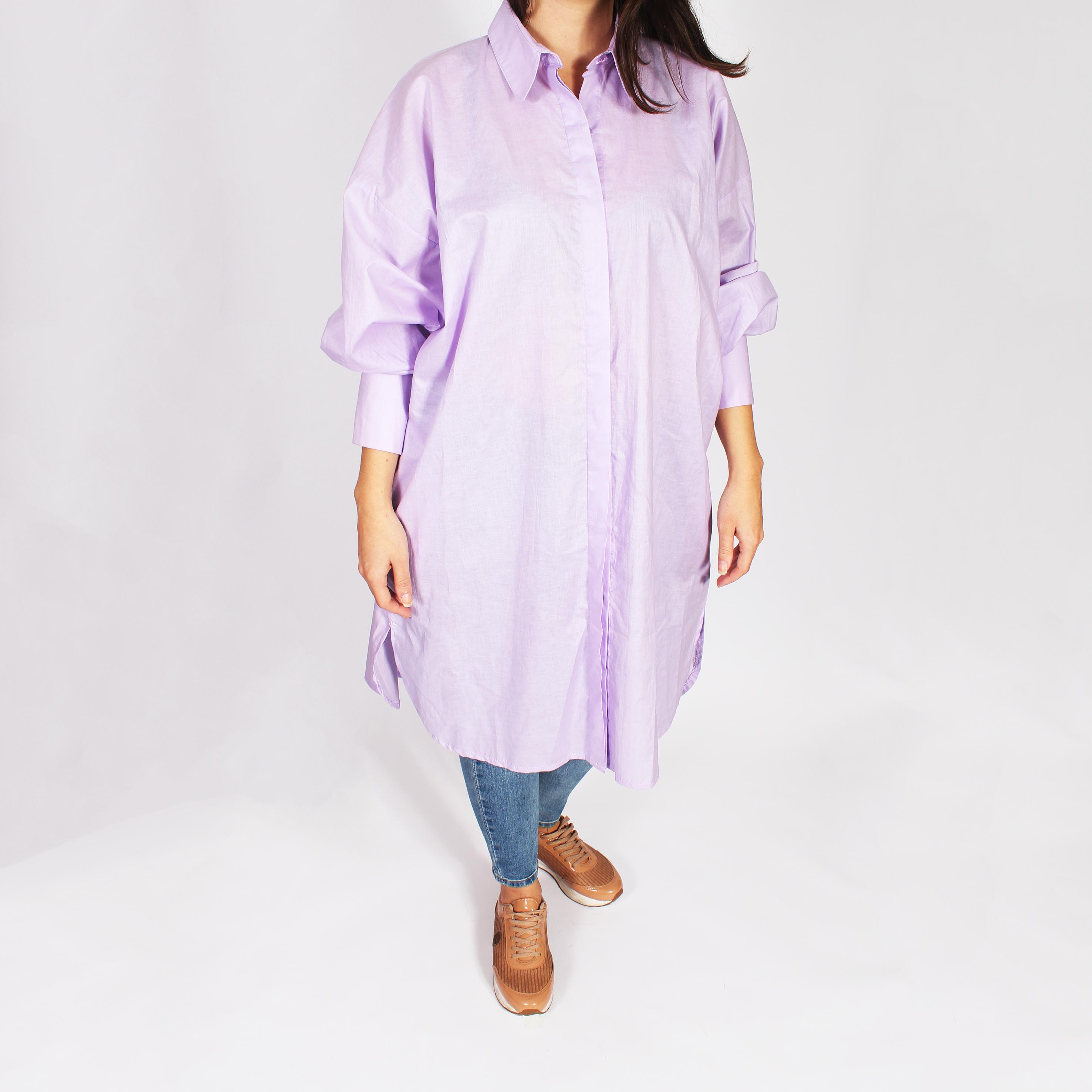 Camisa Georgia manga larga violeta