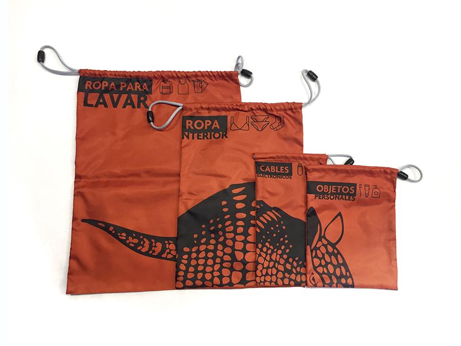 Kit bolsas de viaje terracota