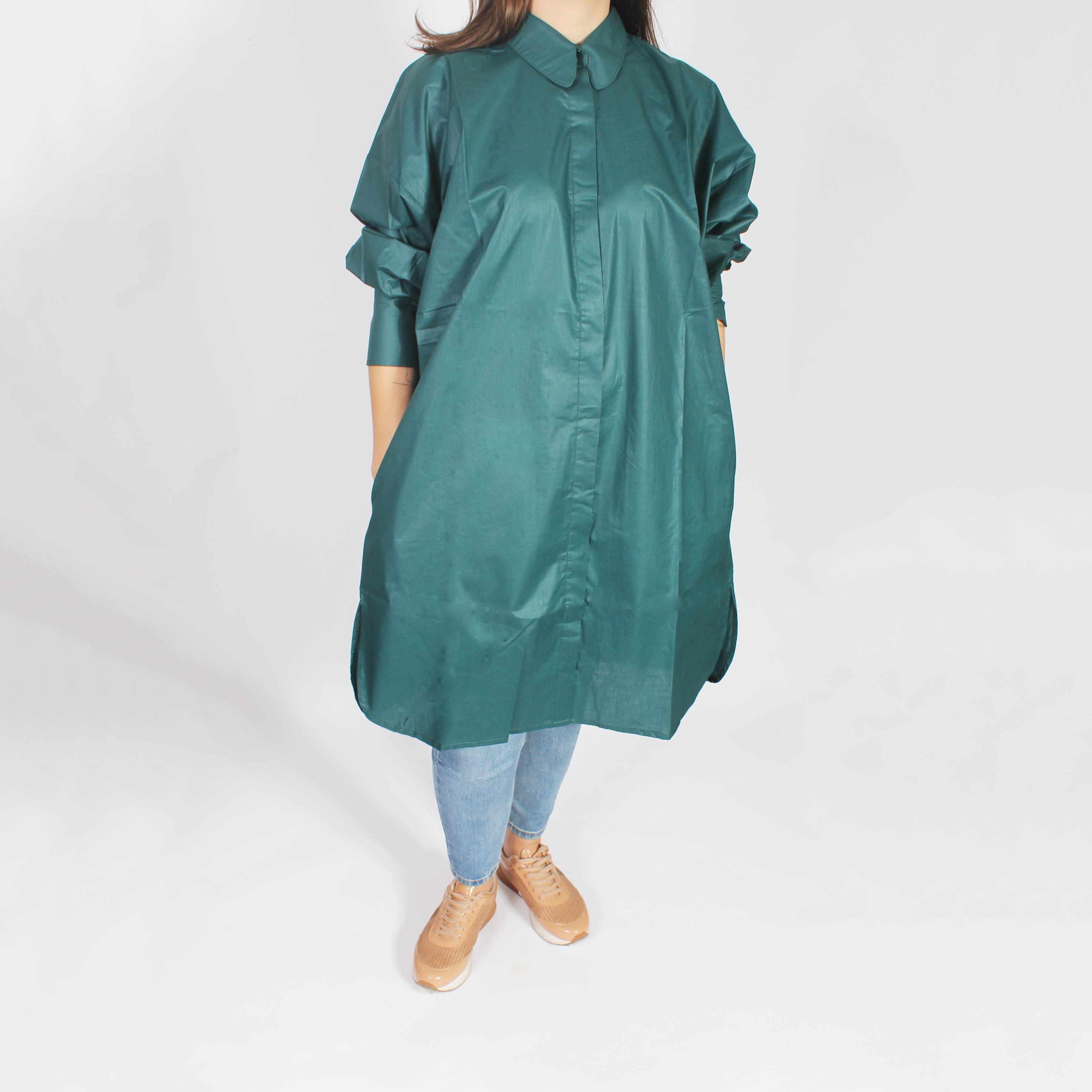 Camisa Georgia manga larga verde